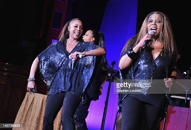 Cindy Herron Terry Ellis and Maxine Jones of En Vogue perform at the Jackie Robinson Foundation Awards Gala at The Waldorf=Astoria on March 5 2012 in...