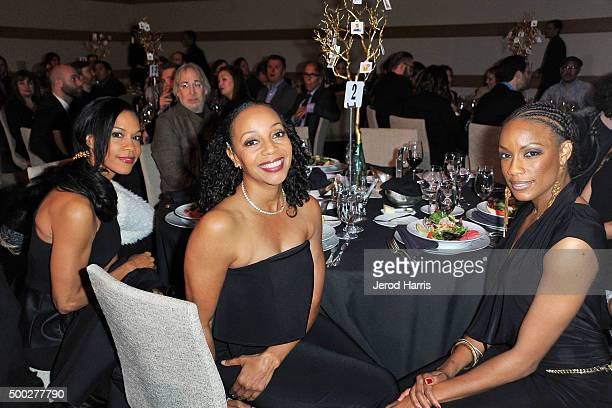 Cindy Herron Terry Ellis and Rhona Bennett of En Vogue attends the Education Through MusicLos Angeles' 10th Anniversary Benefit Gala at Skirball...