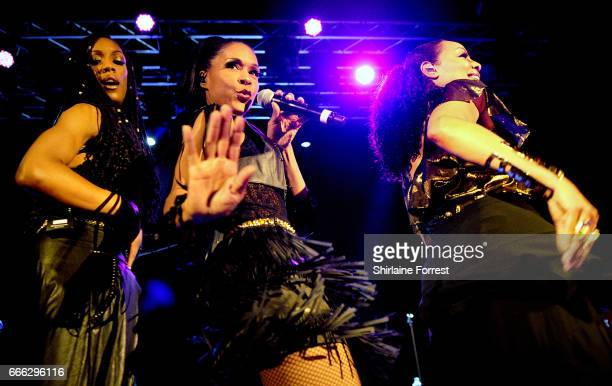 Cindy HerronBraggs Terry Ellis and Rhona Bennett of En Vogue perform at Manchester Academy on April 8 2017 in Manchester England