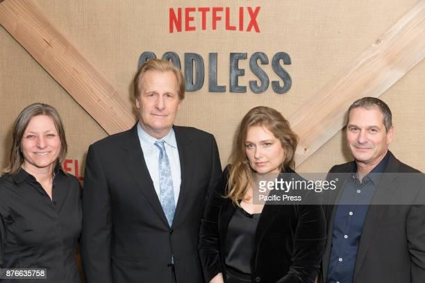 Cindy Holland Jeff Daniels Merritt Wever Scott Frank attend Netflix Godless premiere at Metrograph