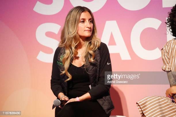 Cindy Kasindorf speaks onstage during POPSUGAR Play/Ground at Pier 94 on June 23, 2019 in New York City.