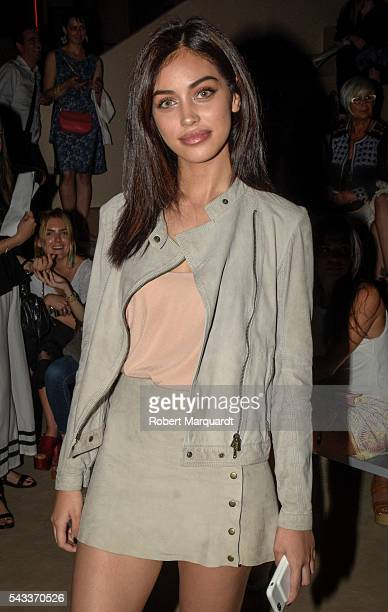 Cindy Kimberly attends the front row of TCN show during the Barcelona 080 Fashion Week Spring/Summer 2017 at the INFEC on June 27 2016 in Barcelona...