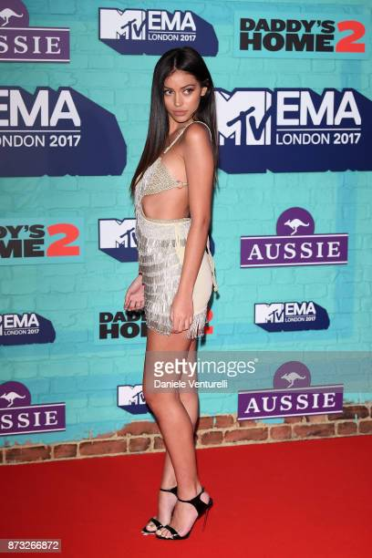 Cindy Kimberly attends the MTV EMAs 2017 held at The SSE Arena Wembley on November 12 2017 in London England