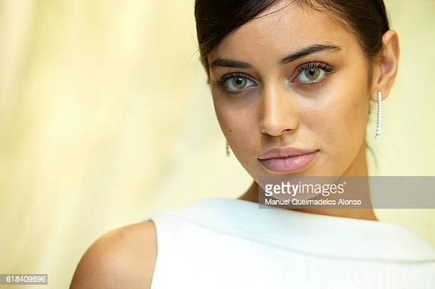 Cindy Kimberly attends the opening of Rosa Clara Store on October 26 2016 in Alicante Spain