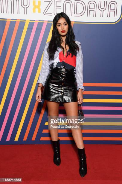 Cindy Kimberly attends the Tommy Hilfiger TOMMYNOW Spring 2019 TommyXZendaya Premieres at Theatre des ChampsElysees on March 02 2019 in Paris France