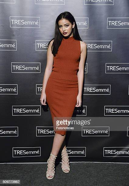 Cindy Kimberly attends the 'TRESEMME' Fashion Show on February 9, 2016 in Madrid, Spain.
