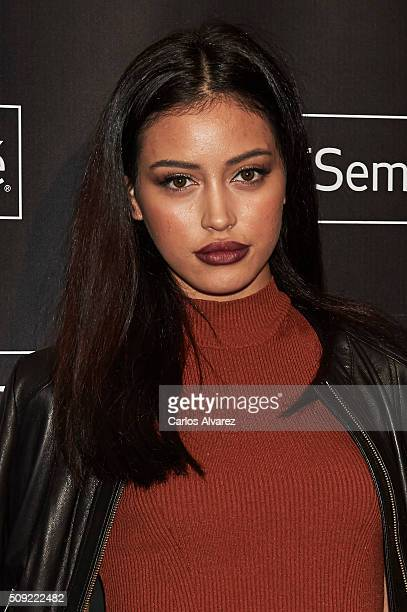 Cindy Kimberly attends the 'Tresemme' Madrid Fashion Show on February 9 2016 in Madrid Spain