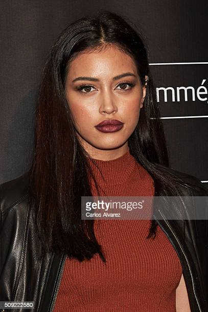 Cindy Kimberly attends the Tresemme Madrid Fashion Show on February 9 2016 in Madrid Spain