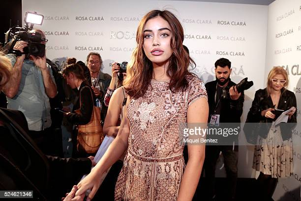 Cindy Kimberly poses during a photocall for Rosa Clara's bridal fashion show during 'Barcelona Bridal Fashion Week 2016' at Fira Montjuic on April 26...