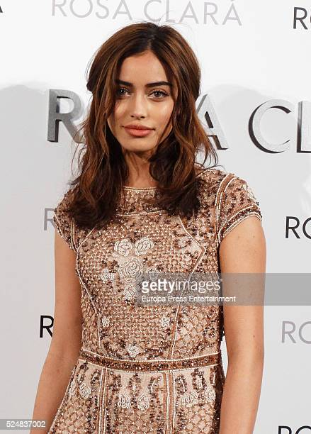 Cindy Kimberly poses during a photocall for Rosa Clara's bridal fashion show during 'Barcelona Bridal Fashion Week 2016' on April 26 2016 in Barcelona