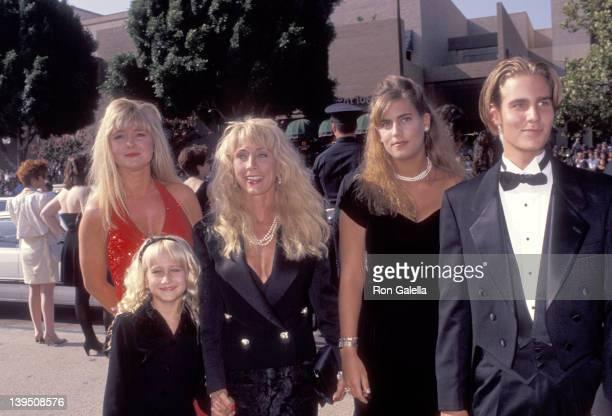 Cindy Landon and family Leslie Landon Jennifer Landon Shawna Landon and Christopher Landon attend the 43rd Annual Primetime Emmy Awards on August 25...