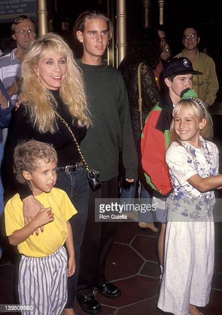 Cindy Landon and family Sean Landon Christopher Landon and daughter Jennifer attend Beauty the Beast Hollywood Premiere on November 10 1991 at El...