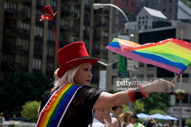 Cindy Lauper as Grand Marshall in the 2012 New York Gay Pride parade on June 24 2012 The 43rdannual parade is part of Gay Pride week The parade took...