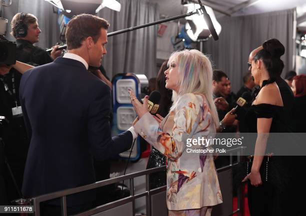 Cindy Lauper attends the 60th Annual GRAMMY Awards at Madison Square Garden on January 28 2018 in New York City