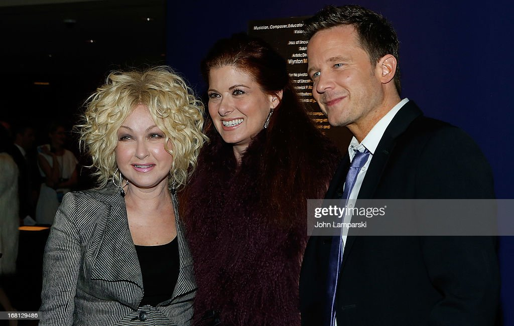 Cindy Lauper, Debra Messing and Will Chase attend The 2013 Broadway.com Audience Choice Awards at Jazz at Lincoln Center on May 5, 2013 in New York City.