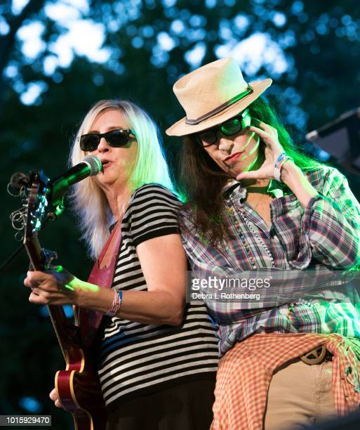 Cindy Lee Berryhill and Syd Straw perform during the Music and Revolution Greenwich Village in the 1960's Concert at SummerStage at Rumsey Playfield...