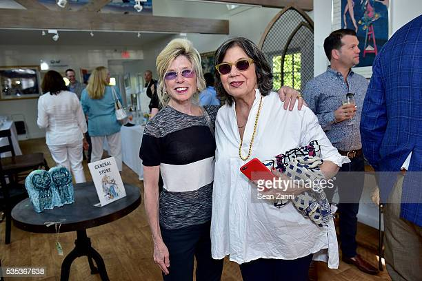 Cindy Lewis and Suzy Slesin attend Animal Rescue Fund of the Hamptons 6th Annual Thrift Shop Designer Showhouse at ARF Thrift Treasure Shop on May 28...