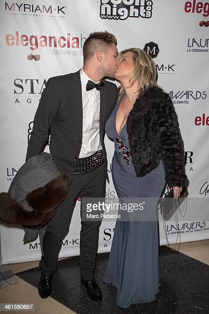 Cindy Lopes and guest attend the Lauriers TV Awards 2014 at La Cigale on January 9 2014 in Paris France