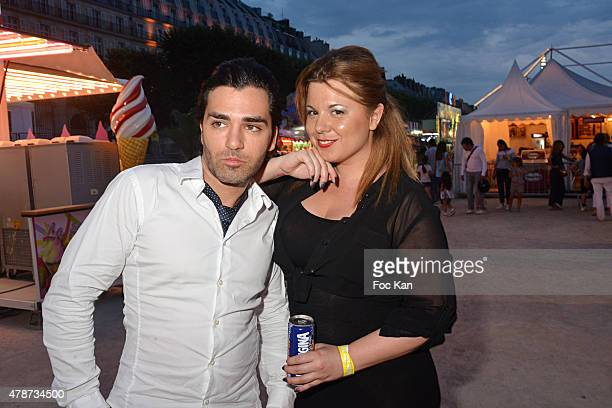 Cindy Lopes and Maxime attend 'Fete des Tuileries' Launch Party To Benefit Meghanora Association on June 26 2015 in Paris France