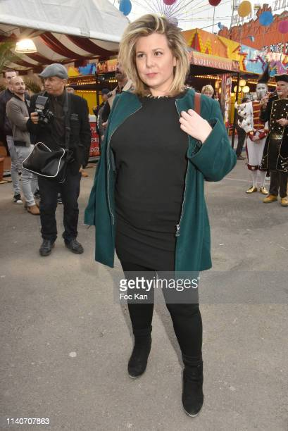 Cindy Lopes attends Foire du Trone 2019 Auction Party to benefit Adicare and Amster associations at Pelouse de Reuilly on April 5, 2019 in Paris,...