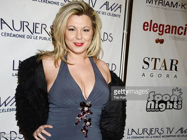 Cindy Lopes from Secret Story 3 attends the 'Lauriers TV Awards 2014 Ceremony' Red Carpet Arrivals At La Cigale on January 9 2014 in Paris France