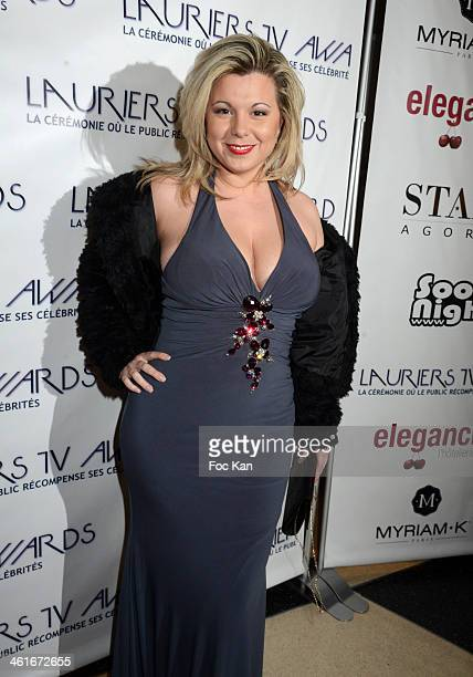 Cindy Lopes from Secret Story 3 attends the 'Lauriers TV Awards 2014 Ceremony' : Red Carpet Arrivals At La Cigale on January 9, 2014 in Paris, France.