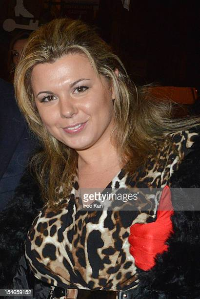 Cindy Lopes from Secret Stoty attends the 'Les 10 Ans de Marc Mitonne' Party Hosted by '2 Mains Rouges' at the Marc Mitonne Restaurant on October 23...