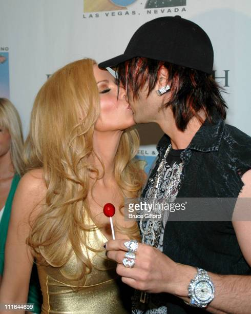 Cindy Margolis and Criss Angel during Criss Angel and Cindy Margolis Host Party for Kozak The Magician at Body English at the Hard Rock Hotel &...