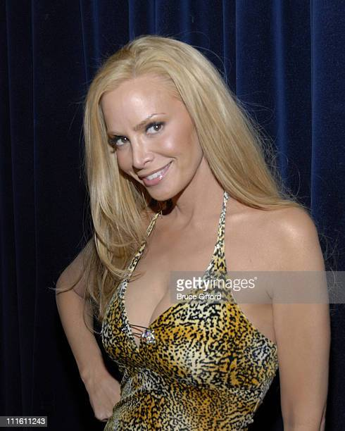 Cindy Margolis during Cindy Margolis with the Thunder From Down Under Male Revue at Excalibur Hotel Casino in Las Vegas Nevada United States