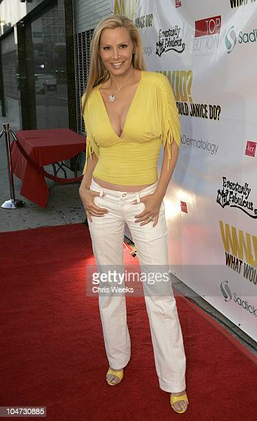 Cindy Margolis during Model/Citizen Goldenvoice Present WWJD What Would Janice Do Red Carpet at The El Rey Theatre in Los Angeles California United...