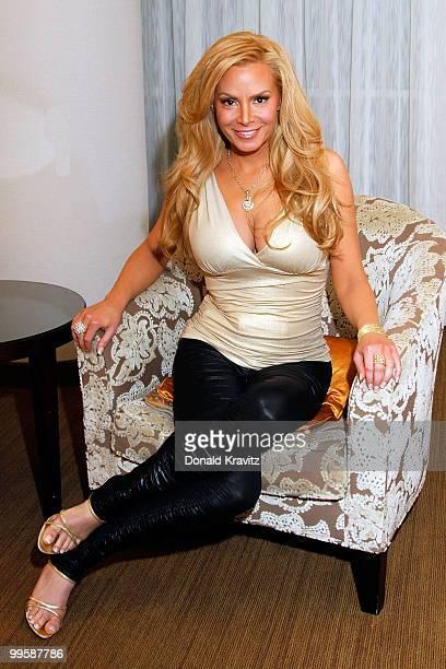 ACCESS** Cindy Margolis poses at Ego Bar Lounge at Trump Taj Mahal on May 15 2010 in Atlantic City New Jersey
