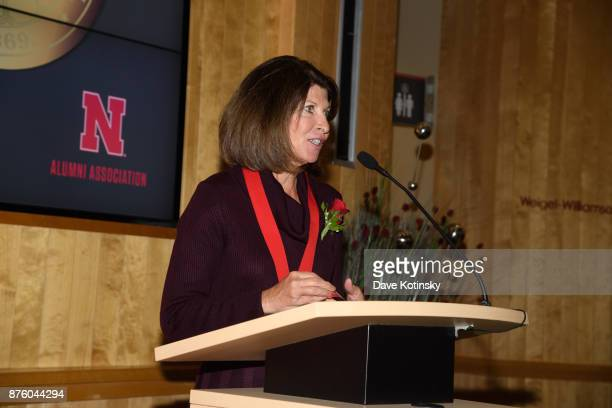 Cindy McCaffrey Marketing Office at Google at the University of NebraskaLincoln after accepting the 2017 Alumni Master Medallion at the Alumni Dinner...