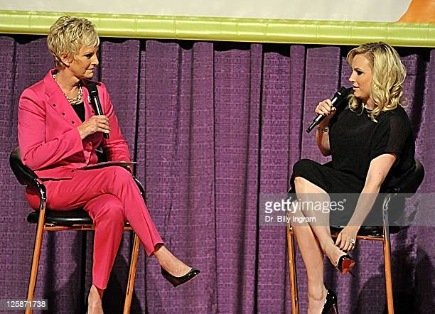 Cindy McCain and author Meghan McCain speak at Maria Shriver's Women's Conference 2010 at the Long Beach Convention Center on October 25 2010 in Long...