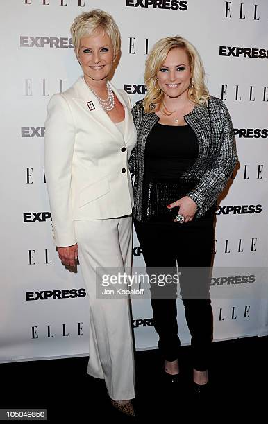 Cindy McCain and daughter Meghan McCain arrive at the ELLE And Express 25 At 25 Event at Palihouse Holloway on October 7 2010 in West Hollywood...