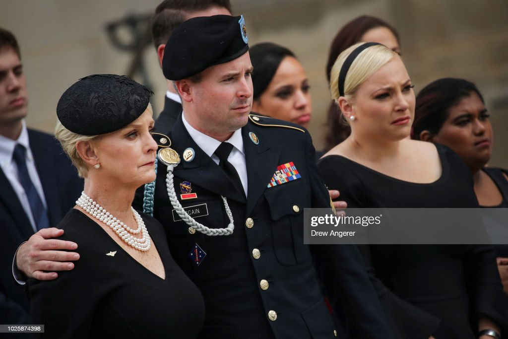 National Cathedral Hosts Memorial Service For Sen. John McCain (R-AZ) : News Photo