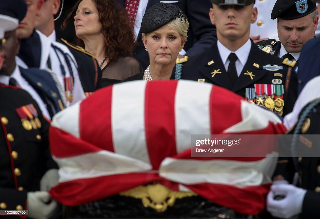 National Cathedral Hosts Memorial Service For Sen. John McCain (R-AZ) : News Photo
