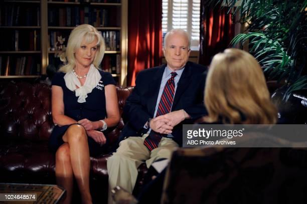Cindy McCain Senator John McCain Diane Sawyer on Walt Disney Television via Getty Images's 'Portrait of a President'