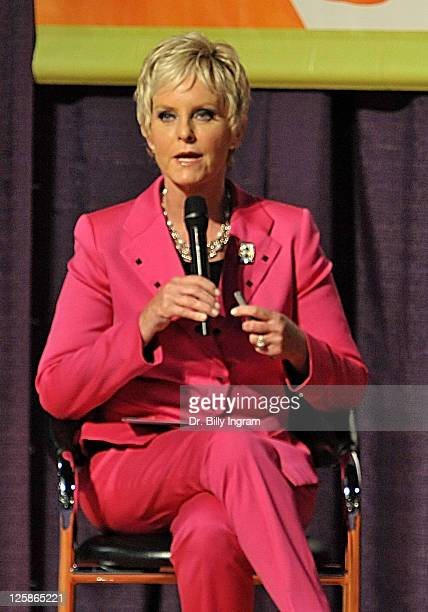 Cindy McCain speaks at day 2 of Maria Shriver's Women's Conference 2010 at the Long Beach Convention Center on October 25 2010 in Long Beach...