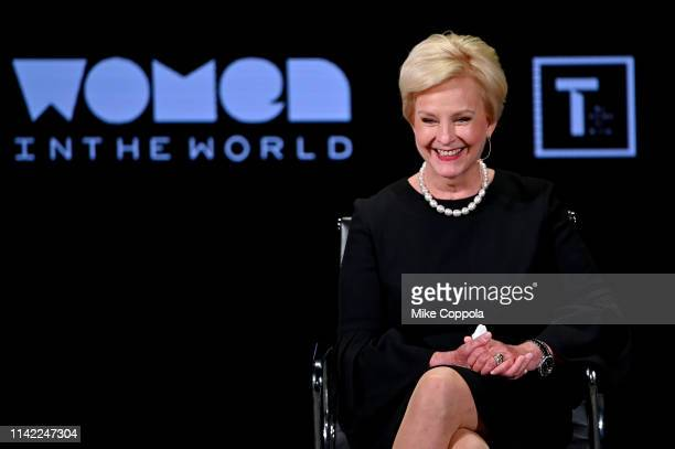 Cindy McCain speaks during the 10th Anniversary Women In The World Summit at David H Koch Theater at Lincoln Center on April 12 2019 in New York City