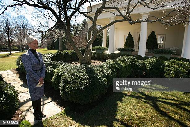 Cindy McCain watches as her husband John McCain US senator from Arizona and 2008 Republican presidential candidate and US President George W Bush not...