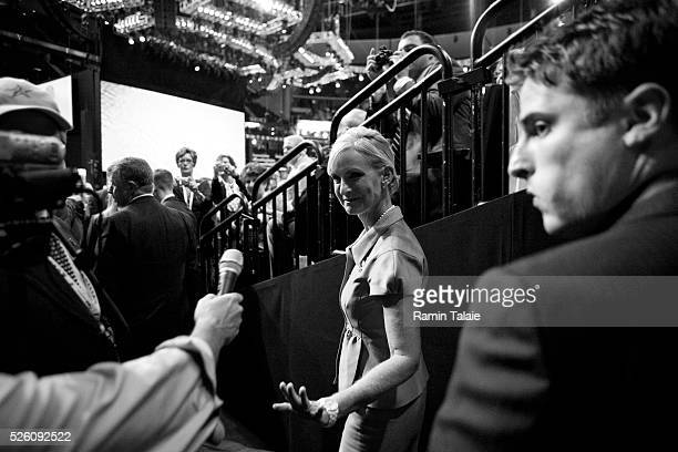 Cindy McCain, wife of John McCain, the Republican presidential candidate arrives at the Republican National Convention at the Xcel Center in St....