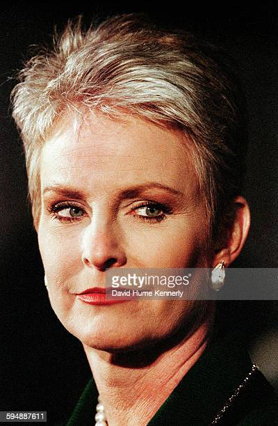 Cindy McCain wife of presidential candidate John McCain during a campaign event circa 2000
