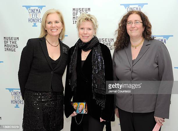 Cindy Meehl and Julie Goldman attends the 5th Annual Cinema Eye Honors for Nonfiction Filmmaking at the Museum of the Moving Image on January 11 2012...