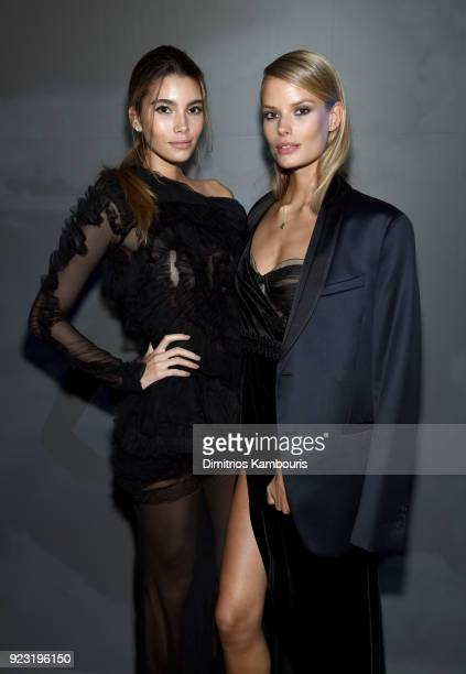Cindy Mello and Alena Blohm at the Exhibition and after party of the #LEGENDARYFUTURE Roadshow 2018 New York on February 22 2018