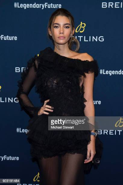 Cindy Mello attends Breitling Celebrates The North American Stopover of its Global Roadshow at Duggal Greenhouse on February 22, 2018 in the Brooklyn...