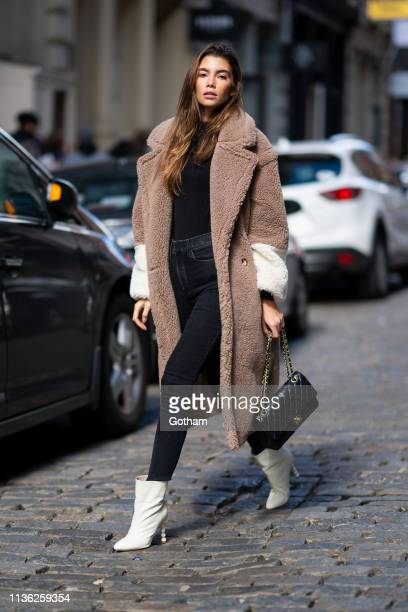 Cindy Mello is seen in SoHo on March 16 2019 in New York City