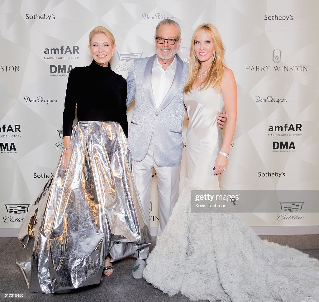 Cindy Rachofsky, Howard Rachofsky, and Nancy C. Rogers attend TWO x TWO For AIDS and Art 2016 on October 22, 2016 in Dallas, Texas.