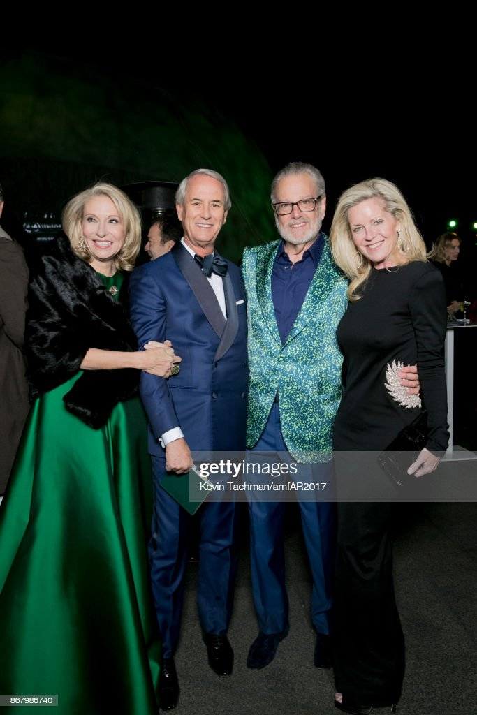 Cindy Rachofsky, John Eagle, Howard Rachofsky and Jennifer Eagle at TWO X TWO for AIDS and Art 2017 at The Rachofsky House on October 28, 2017 in Dallas, Texas.