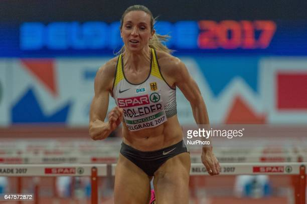 Cindy RolederGermany during 60m Hurdles for women at European athletics indoor championships in Belgrade on March 3 2017