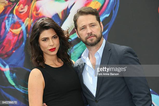 Cindy Sampson and Jason Priestley attend Private Eyes Photocall as part of the 56th Monte Carlo Tv Festival at the Grimaldi Forum on June 14 2016 in...